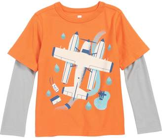 Tea Collection Seaplane Layered Sleeve T-Shirt