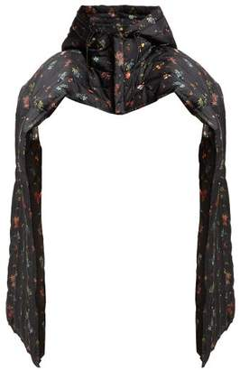 Preen by Thornton Bregazzi Pippa Floral Print Padded Cotton Blend Scarf - Womens - Black Multi