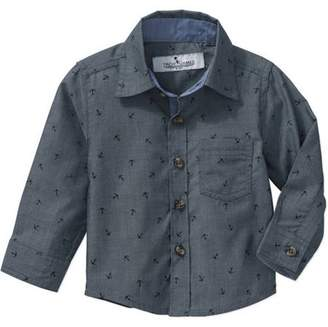 Troy James Genevieve Goings Collection by Toddler Boys' Nautical Button Up Woven Shirt