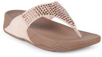 FitFlop Women's Glitzie Toe Thong Sandals