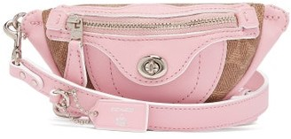 Coach Matty Bovan X Matty Bovan Xs Signature Canvas Belt Bag - Womens - Light Pink