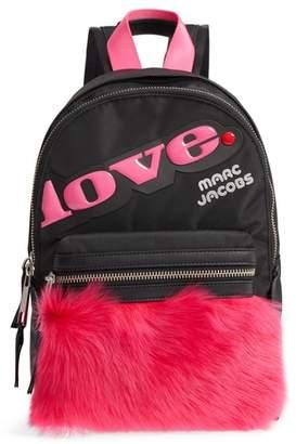 Marc Jacobs Love Medium Trek Nylon & Genuine Shearling Backpack