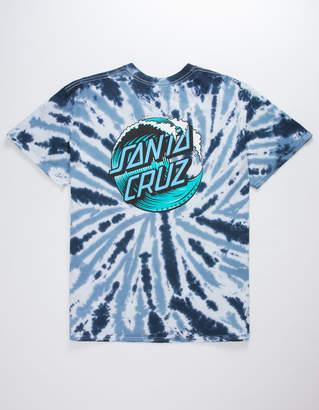 Santa Cruz Wave Dot Tie Dye Mens T-Shirt