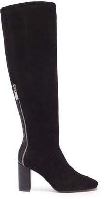 Stuart Weitzman 'Boyd' leather panel stretch suede knee high boots