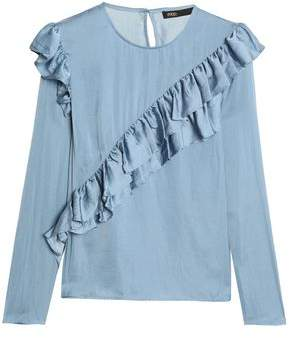 Maje Ruffled Satin Blouse