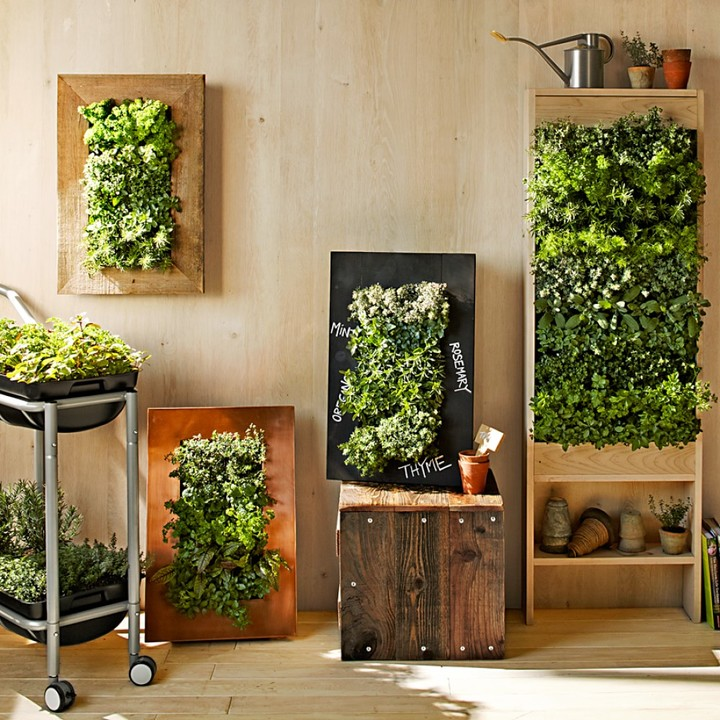 Williams-Sonoma Williams Sonoma Copper Vertical Wall Planter