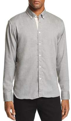 Billy Reid Irvine Micro-Herringbone Regular Fit Button-Down Shirt
