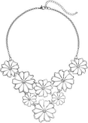 Kohl's Openwork Flower Bib Necklace