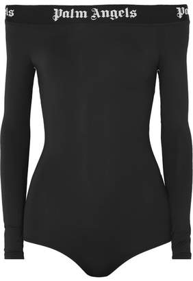 Palm Angels Off-the-shoulder Stretch-jersey Bodysuit - Black