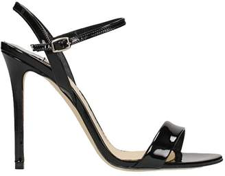 The Seller Black Patent Leather Sandals