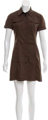 Prada Mini Short Sleeve Dress