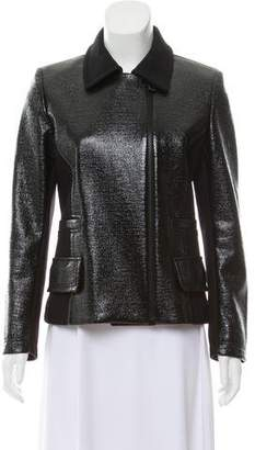 Barbara Bui Patent Leather Wool Jacket