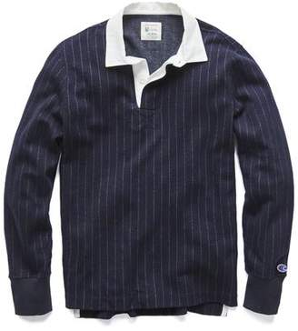Todd Snyder + Champion Champion Italian Wool Wide Stripe Rugby in Navy