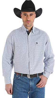 Wrangler Men's George Strait Troubadour Two Pocket Long Sleeve Snap Shirt