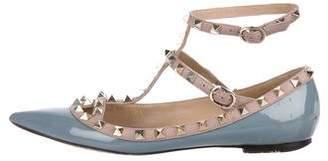 Valentino Rockstud Ankle Strap Flats