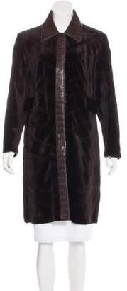J. Mendel Alligator-Trimmed Mink Coat