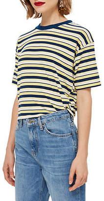 Topshop Multicolour Stripe Boxy T-Shirt