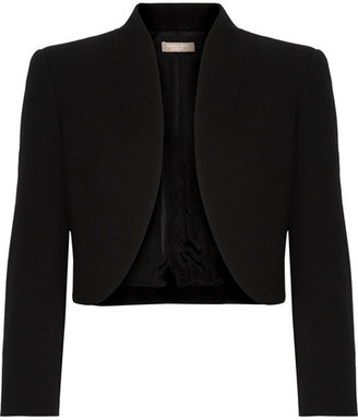 Michael Kors Collection - Cropped Wool-blend Crepe Jacket - Black $1,295 thestylecure.com