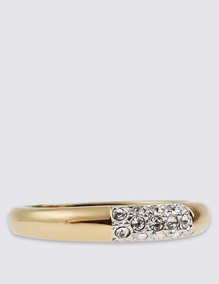 Marks and Spencer Gold Plated Pavé Diamanté Ring