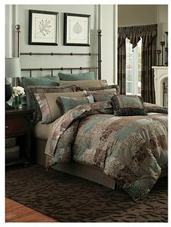 Croscill Galleria Chocolate Comforter Set - Cal King