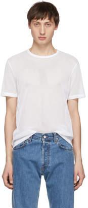 Helmut Lang White Mesh Logo T-Shirt