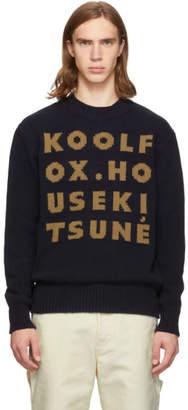 MAISON KITSUNÉ Navy Kool Fox Sweater