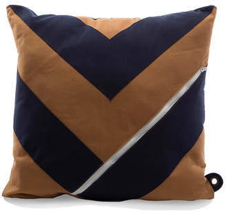 Mimish Dreamer Chevron Square Storage Throw Pillow