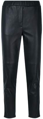 Bottega Veneta cropped leather trousers