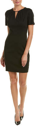 Elie Tahari Linen-Blend Sheath Dress