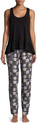 Josie Natori Women's Rose-Themed Pajama Set