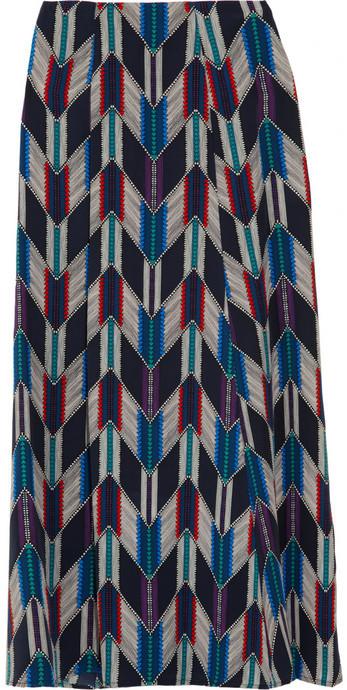 Mara Hoffman Printed washed-silk maxi skirt
