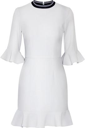 Rebecca Vallance - Billie Ruffled Stretch-crepe Mini Dress - Sky blue $355 thestylecure.com