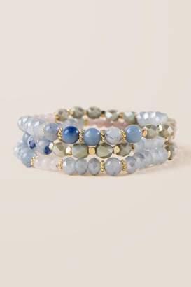 francesca's Kinsley Beaded Bracelet Set - Blue