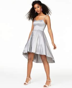 B. Darlin Juniors' Taffeta Ladder-Back Dress, Created for Macy's