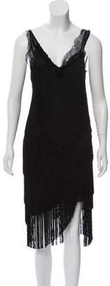 Nina Ricci Fringed Sleeveless Dress