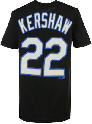Majestic Clayton Kershaw Los Angeles Dodgers Official Player T-Shirt, Big Boys (8-20)