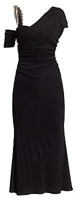 Roberto Cavalli Women's Knitted One-Shoulder Asymmetric Gown