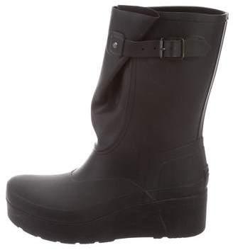 Hunter Rubber Wedge Rain Boots