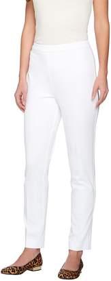Susan Graver Coastal Stretch Side Zip Slim Leg Ankle Pants - Petite