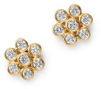 Bloomingdale's Diamond Bezel Set Flower Stud Earrings in 14K Yellow Gold, 0.45 ct. t.w. - 100% Exclusive
