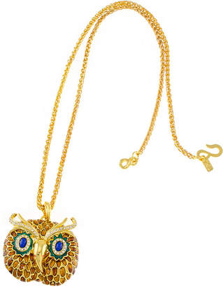 Kenneth Jay Lane KJL BY KJL by Gold-Tone Owl Pendant Necklace