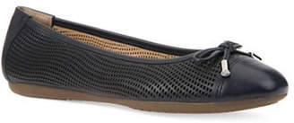 Geox Lola Perforated Leather Ballet Flats