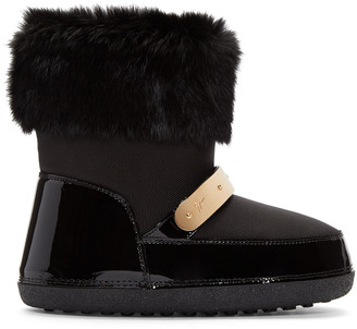 Giuseppe Zanotti Black Snow Boots $695 thestylecure.com