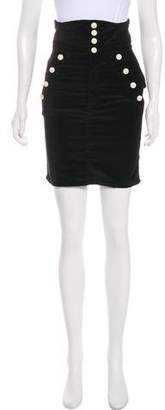 Isabel Marant Velvet Knee-Length Skirt
