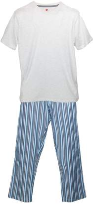 Hanes Men's Big and Tall Tee and Woven Pajama Pants Set, 3XL