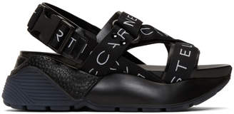 Stella McCartney Black Logo Strap Platform Sandals