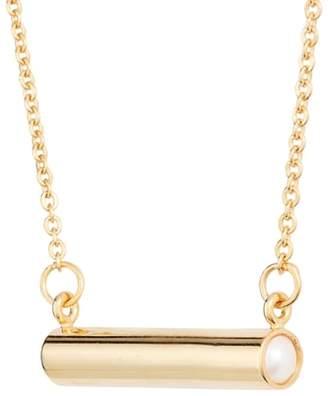 STELLA VALLE June Imitation Pearl Bar Pendant Necklace