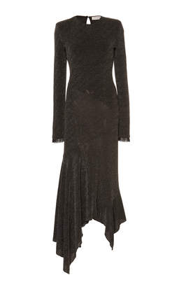 Philosophy di Lorenzo Serafini Asymmetric Studded Jersey Midi Dress