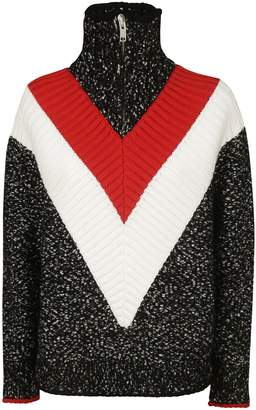 Givenchy High Collar Zip-up Jumper