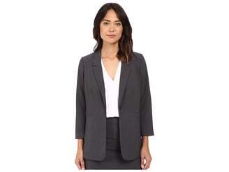 Kensie Heather Stretch Crepe Longer Blazer KS2K2125 Women's Jacket
